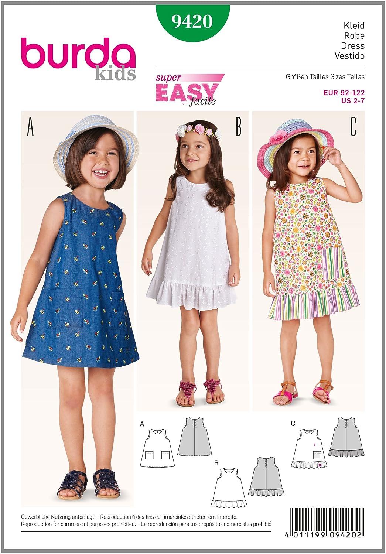 Patrón Burda 9420 Kids Vestido: Amazon.es: Hogar
