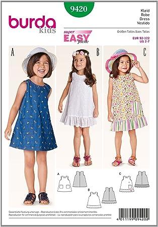 burda style Burda Schnittmuster Kleid 9420: Amazon.de: Küche & Haushalt