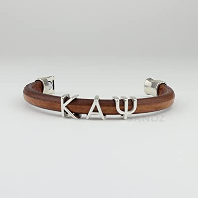 Kappa Alpha Psi Leather bracelet Prophyte Color Tobacco/silver