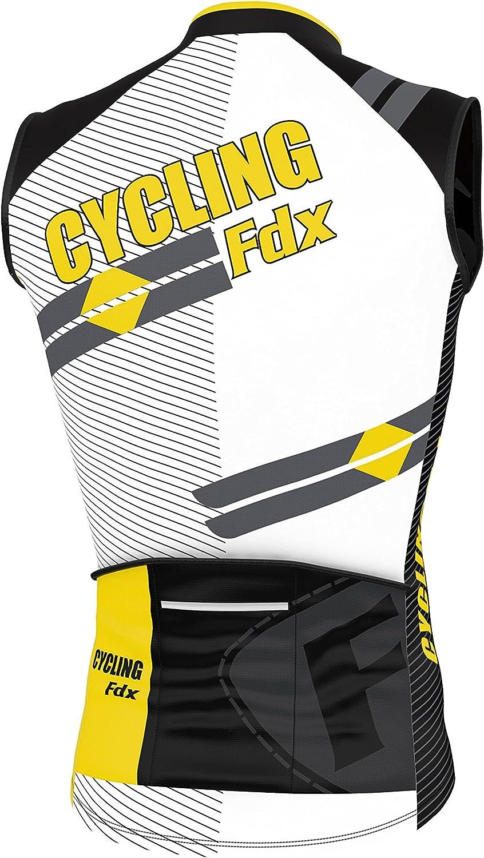 traspirante FDX da ciclismo maglia da uomo senza maniche