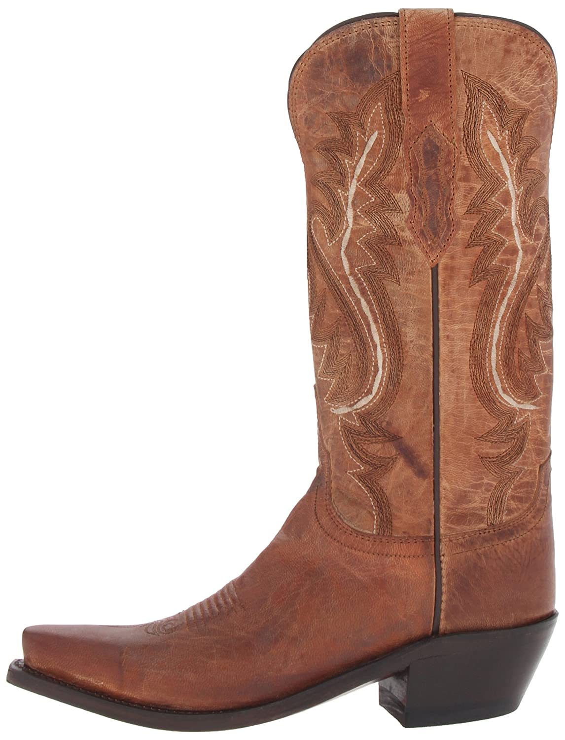 Lucchese Bootmaker Women's Cassidy-Tan Mad Dog Goat Riding Boot B00CU70CX6 8 B(M) US|Tan