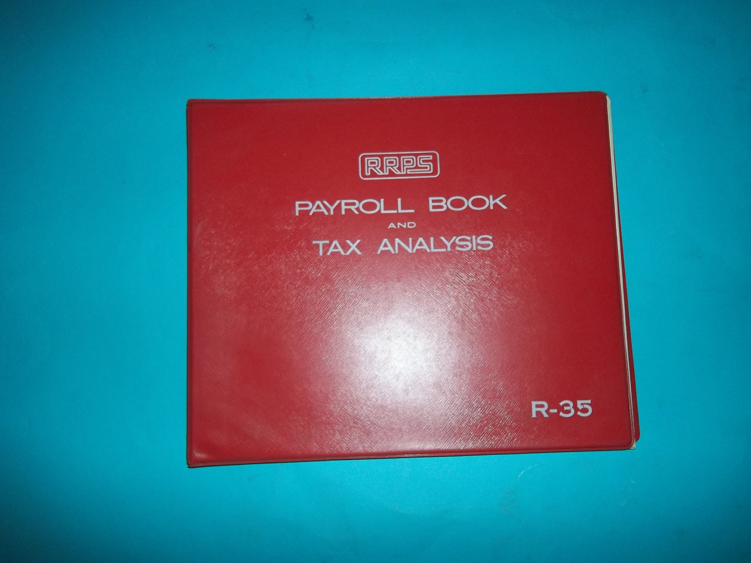 RRPS R-35 Redi-Record Payroll Systems Payroll Book and Tax Analysis Red