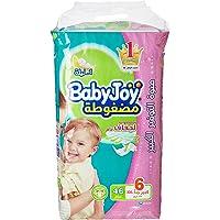 Babyjoy Compressed Diamond pad Diaper, Giant Pack Junior XXL Size 6, Count 46, 16+ KG