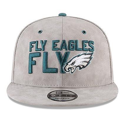 Amazon.com   New Era Philadelphia Eagles 2018 NFL Draft Spotlight Premium  9FIFTY Snapback Adjustable Hat - Gray   Sports   Outdoors 6db515e5693