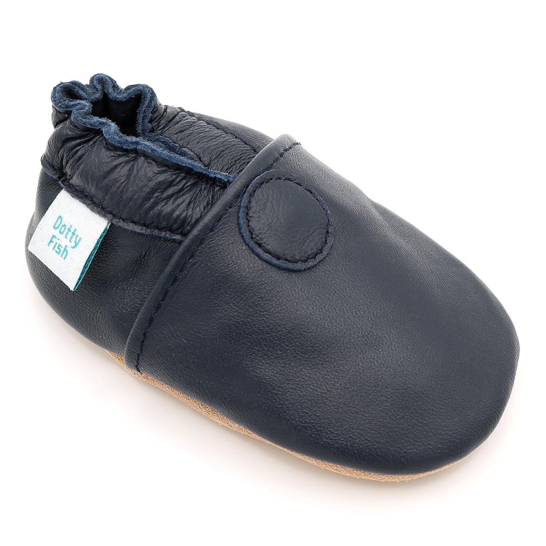 Dotty Fish Chaussures Cuir Souple bébé. Chaussures de Poussette. Conceptions Animale avec...