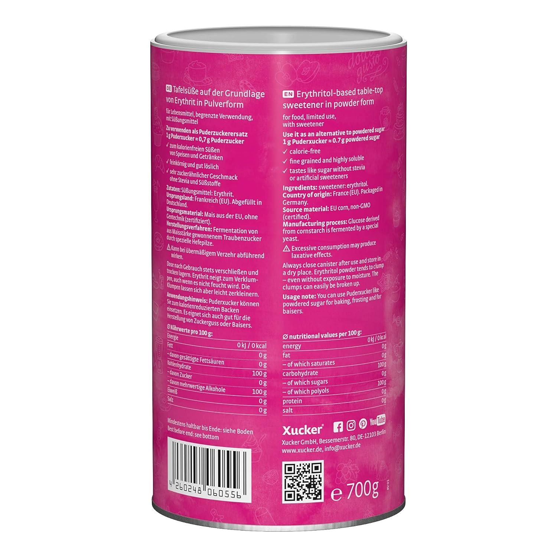 Xucker PuderDose Erythrit, 700 g: Amazon.de: Lebensmittel & Getränke