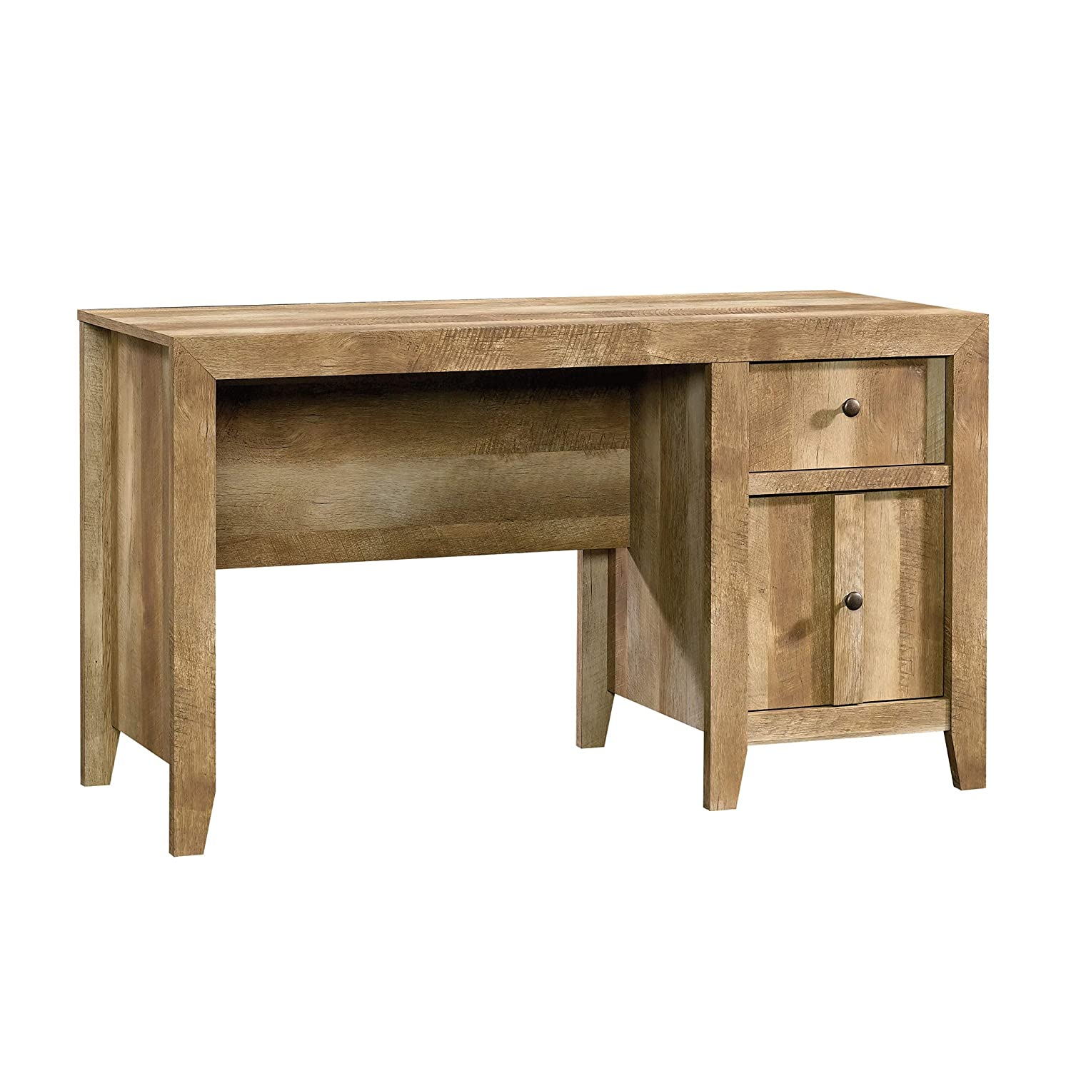 "Sauder 420196 Dakota Pass Desk 53.15"" L x 21.50"" W x 30"" H Craftsman Oak Finish"