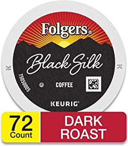 Folgers Black Silk Coffee, Dark Roast, K-Cup Pods for Keurig K-Cup Brewers