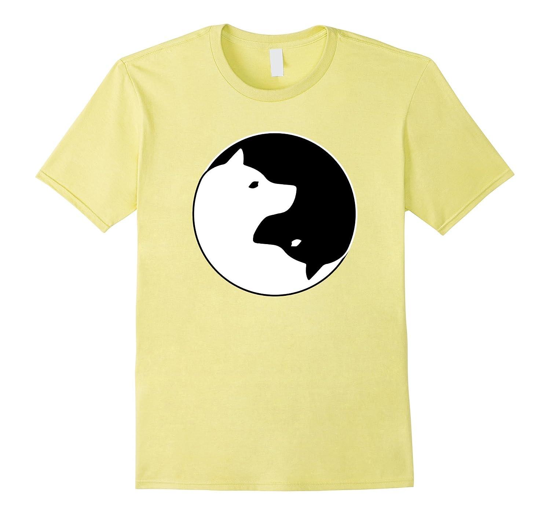Geliebte Cool Yin Yang Dog T-Shirt – Cute Shiba Inu Tee – Black White-FL @II_03