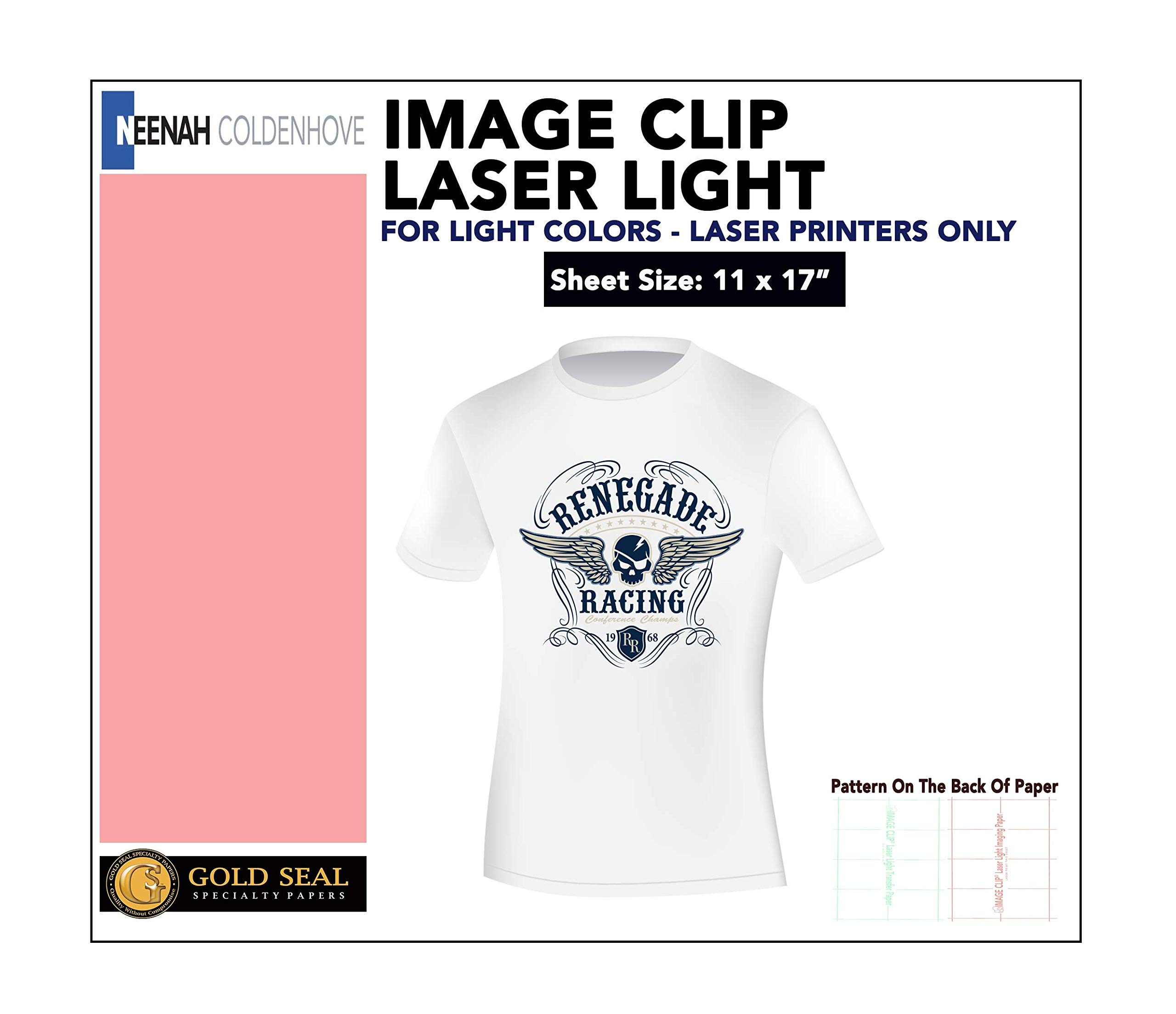 LASER TRANSFER FOR WHITE FABRIC: ''IMAGE CLIP LIGHT'' 11'' x 17'' 100pk :) by Neenah