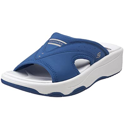 wholesale dealer outlet online performance sportswear Skechers Tone Ups - Electric Slide Toning Sandals In Blue ...