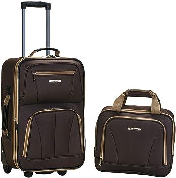 2-Piece Rockland Fashion Softside Upright Carry-on Luggage Set