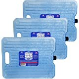 Cooler Shock Ice Packs for Coolers. Thin, Reusable, Long Lasting. Freezer Ice Pack Set for Bags, Insulated Totes. Stays at 18