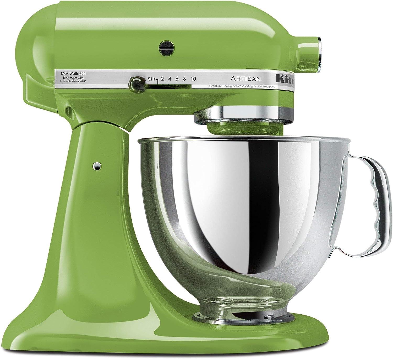KitchenAid KSM150PSGA Artisan Series 5-Qt. Stand Mixer - Green Apple (Renewed)