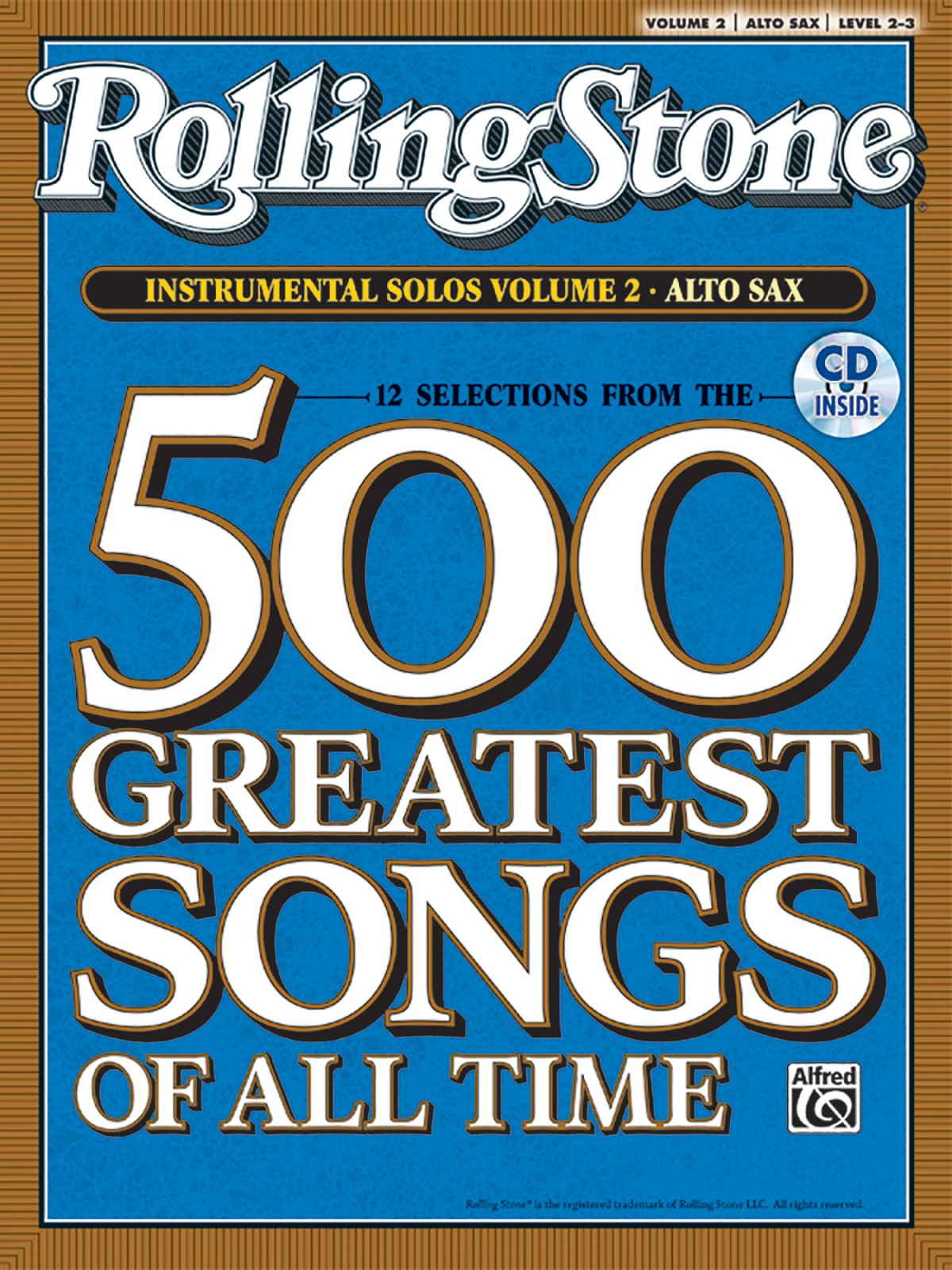 Download Selections from Rolling Stone Magazine's 500 Greatest Songs of All Time (Instrumental Solos), Vol 2: Alto Sax, Book & CD pdf