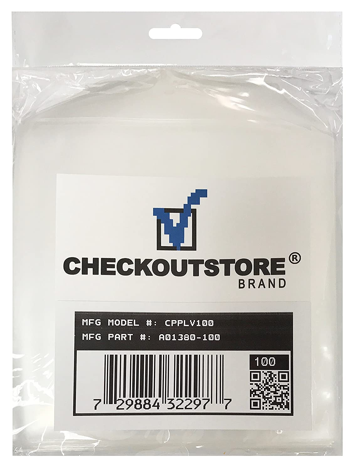 100 CheckOutStore Clear Storage Pockets (5 x 5 1/8) CPPLV100