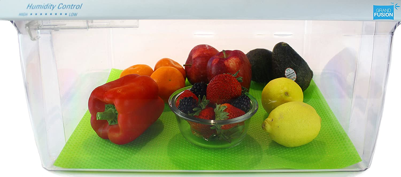 Grand Fusion Fruit Fresh REFRIGERATOR CRISPER DRAWER LINER 2 PACK KEEPS FRUITS AND VEGETABLES FRESH LONGER, Produce Preserver