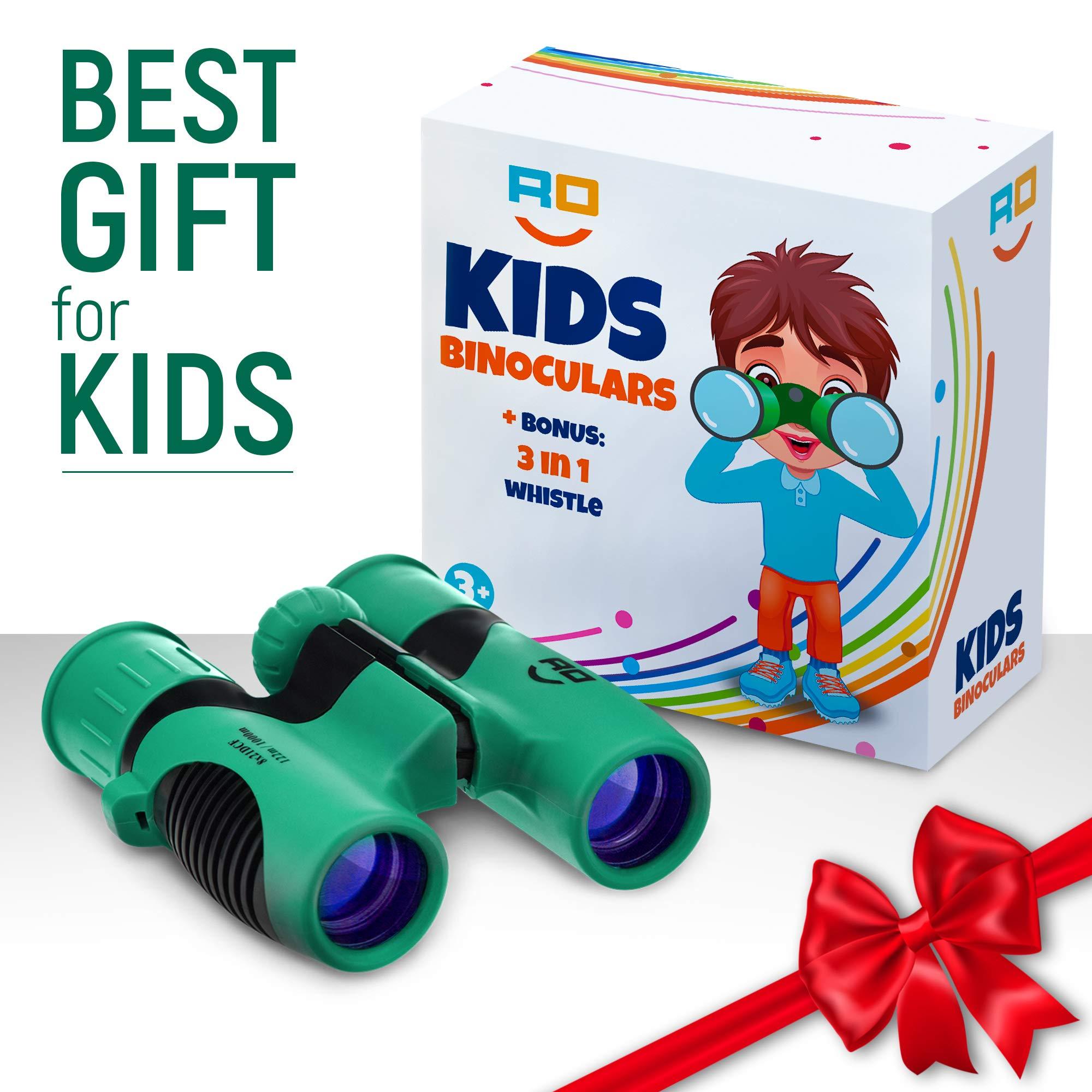 RO Kids Games Binoculars Compact Toy Set for Bird Watching, Spy Hiking Kit for Children, Outdoor Exploration Kit for Backyard Safari, Outside Play, Boys & Girls Binocular, Waterproof & Shockproof by RO kids games (Image #7)