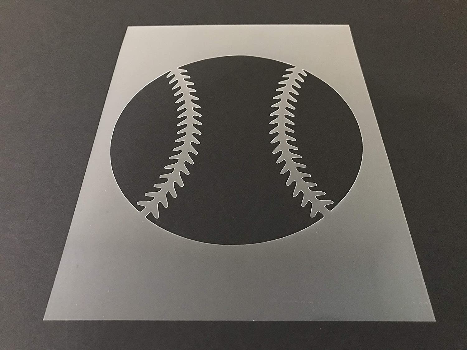 Baseball #1 Stencil Reusable 10 mil Thick 8in x 10.5in sheet