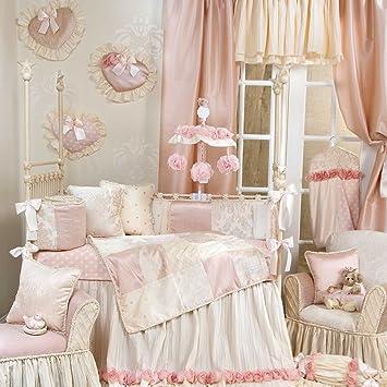 Amazon.com: Victoria 4 piezas Juego de cama cuna de bebé con ...
