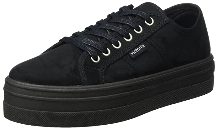 Amazon.com | Victoria Low Shoe Women Shoes with Platform 09205 Black | Fashion Sneakers