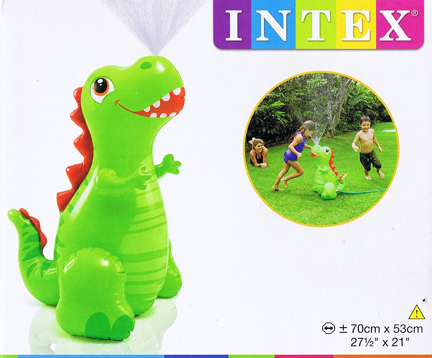 Intex Happy Dino Grass Water Sprayer Sprinkler Inflatable Outdoor Garden Toy