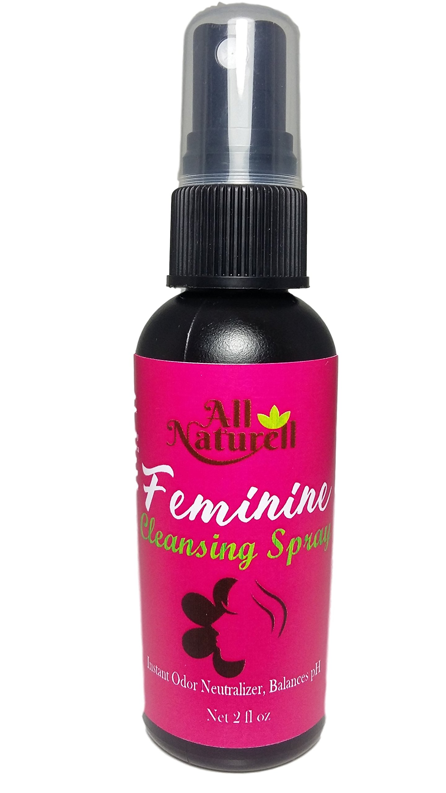 All Natural On The Go Feminine Hygiene Spray | Instant Odor Neutralizer | Relief from Yeast Infection & BV | Paraben and Fragrance Free (2 oz)