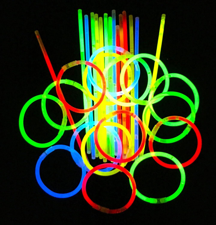 "100 8"" Glow Stick Bracelets,mixed Colors"