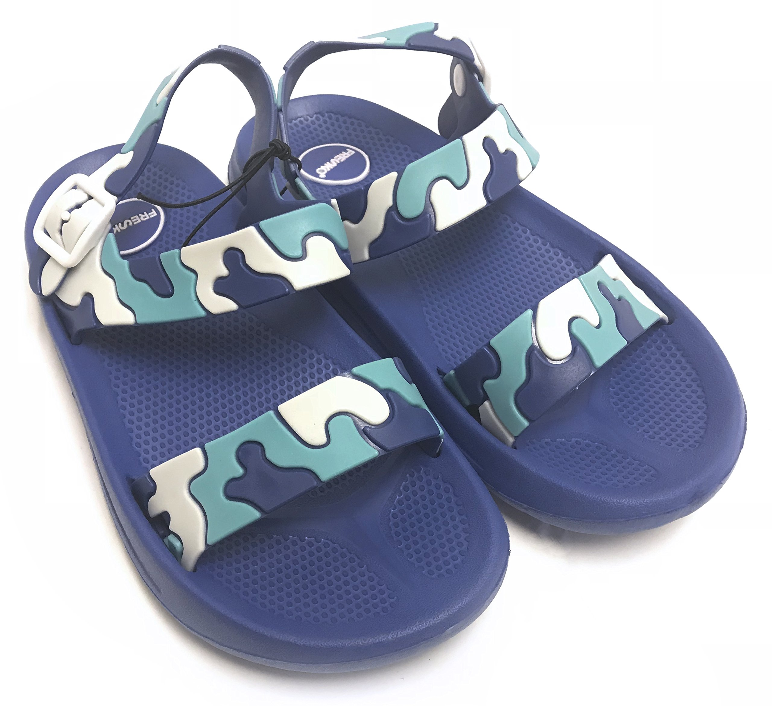 Fresko Boy's Toddler Sandals Blue Camo Size 13