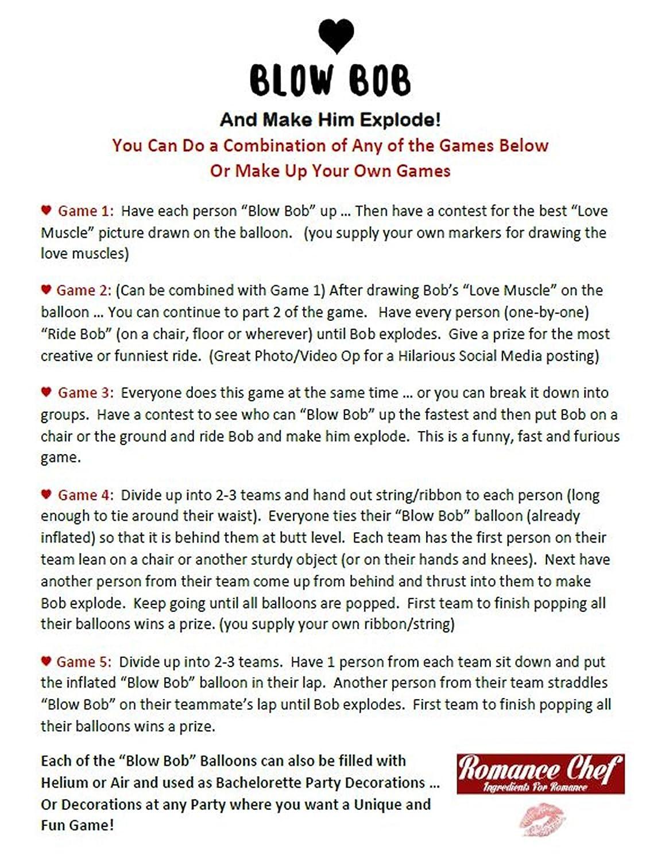Amazon.com: Bachelorette Party Games | Blow Bob | Hilarious Game for ...