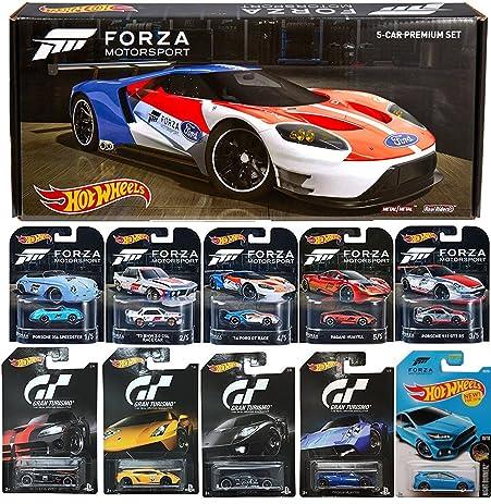 Forza Hot Wheels Premium Exclusive Box Set Retro Real Riders  Ford Gt Lm Porsche