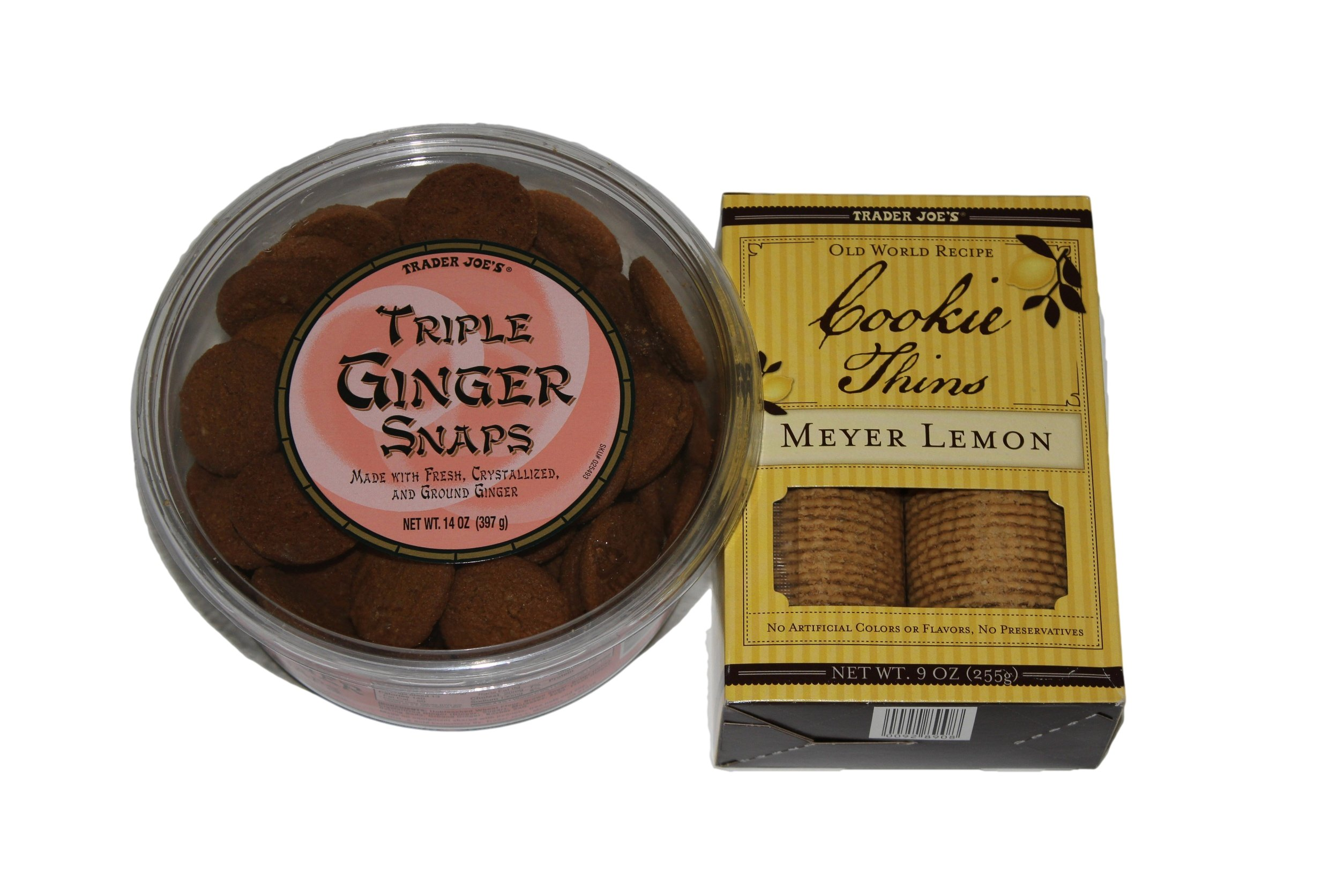 Trader Joes's Cookie Bundle, 2-pack, Triple Ginger Snaps and Meyer Lemon Cookie Thins by Trader Joe's