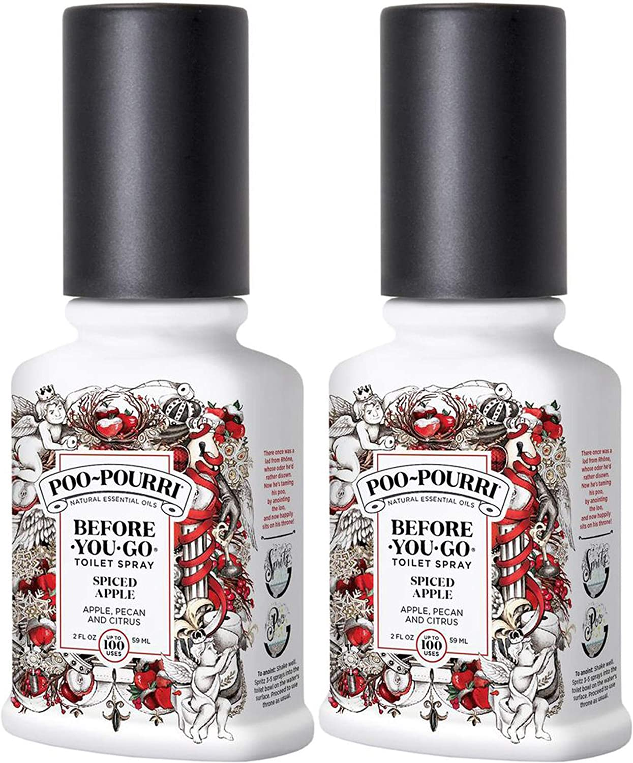 Poo-Pourri Before You Go Toilet Spray Spiced Apple 2 Ounce, 2 Pack