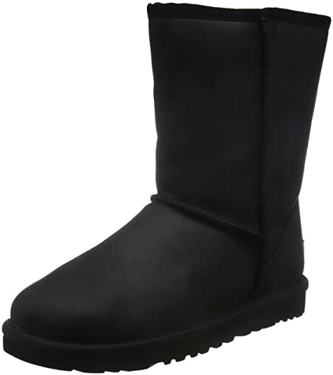 UGG Classic Short Leather - Botas para mujer, color negro, talla 37: Amazon.es: Zapatos y complementos