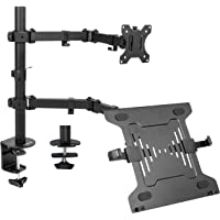 VIVO Full Motion Monitor and Laptop Desk Mount Articulating Double Center Arm Joint VESA Stand, Fits up to 32 inch…