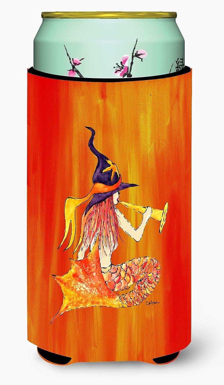 Caroline's Treasures 8629TBC Mermaid in Witches Hat Halloween Tall Boy Beverage Insulator Beverage Insulator Hugger, Tall Boy, multicolor
