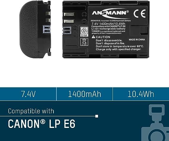 Ansmann Kamera Akku Lp E6 Li Ion 7 4v 1400mah Ideal Kamera