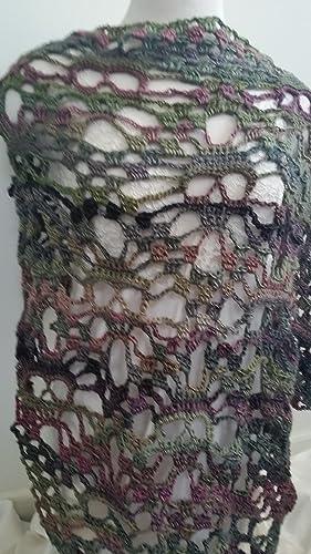 Amazon Skull Shawl Bandana Scarf Hand Crocheted Accessory Handmade