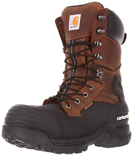 9a10c93f3270 Carhartt Men s 10 quot  Waterproof Insulated PAC Composite Toe Boot CMC1259