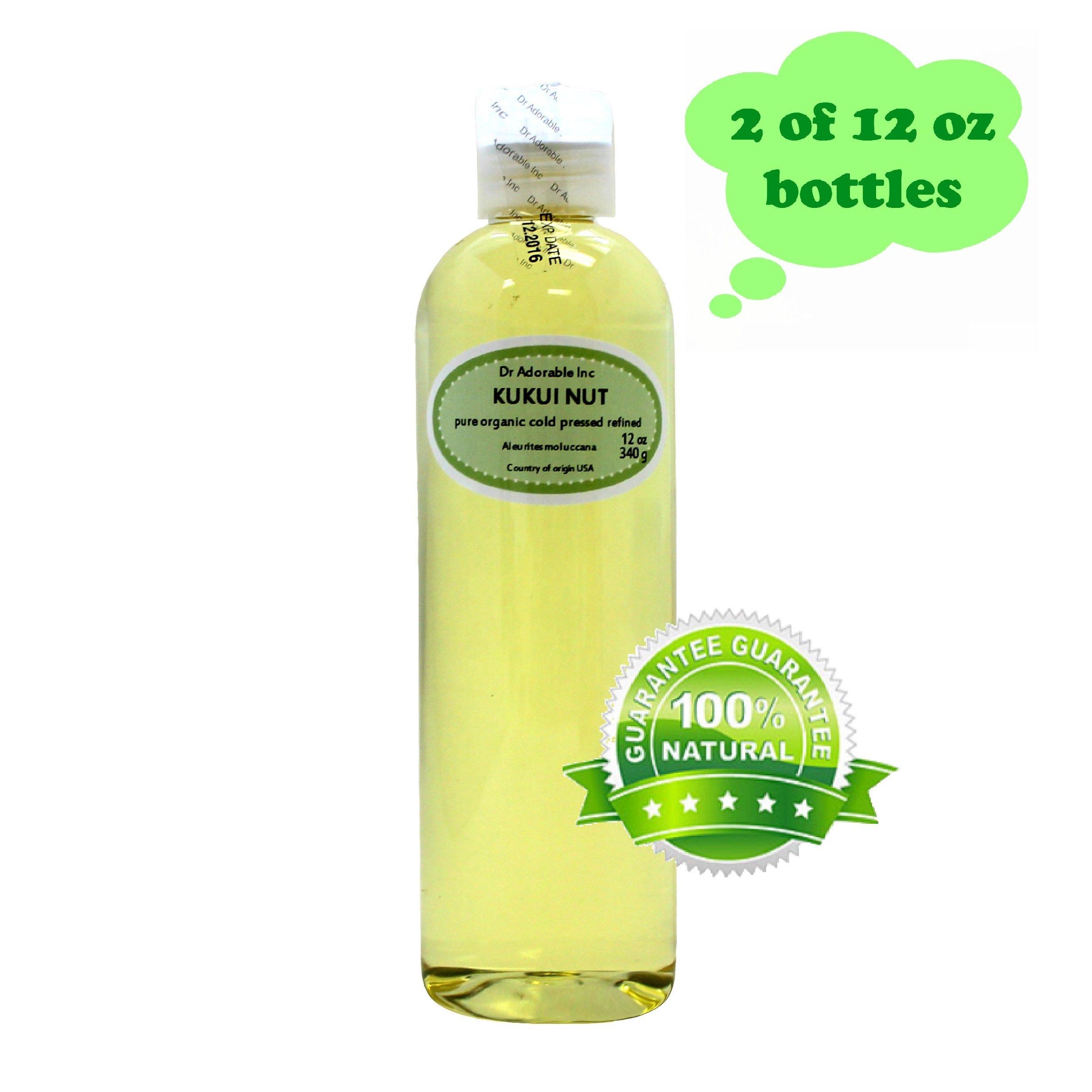 Organic Kukui Nut Oil Cold Pressed 100% Pure 24 Oz