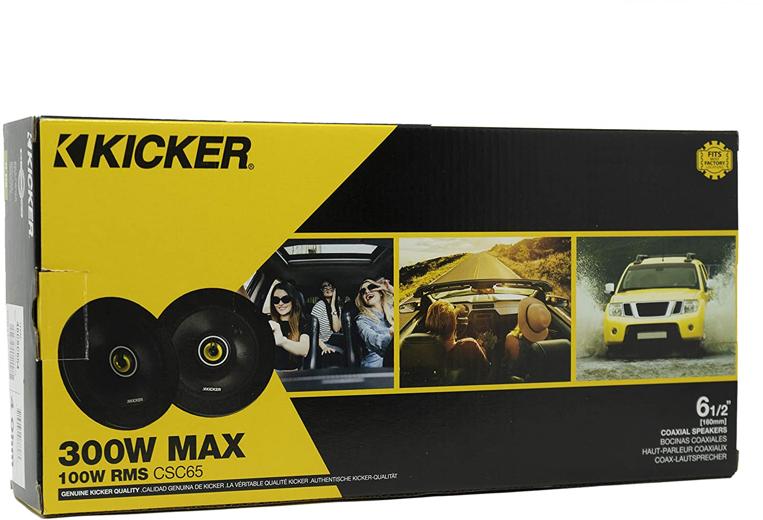 Yellow Kicker CS Series CSC65 6.5 Inch Car Audio Speaker with Woofers 2 Pack