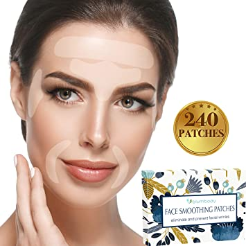 Facial Patches Wrinkle Remover Strips - 240 Face Tape Smoothing: Forehead  Wrinkle Patches, Eye