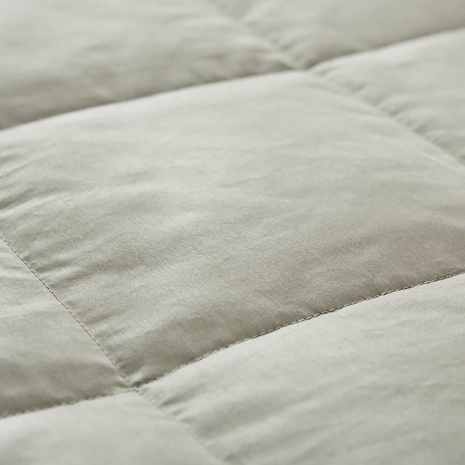 puredown Lightweight Natural White Down Blanket for Bedding Satin Weave 100/% Cotton Blue Full//Queen Size