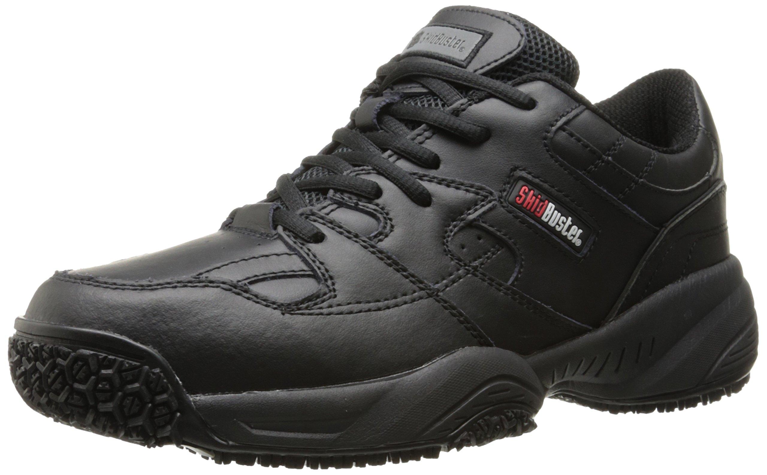 Skidbuster 5050 Men's Leather Comfort Slip Resistant Athletic Shoe,Black,12 W US
