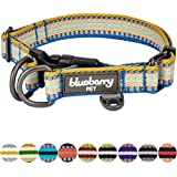 Blueberry Pet Multi-colored Stripe Collection - 3M Reflective Regular, Martingale Collars for Dogs