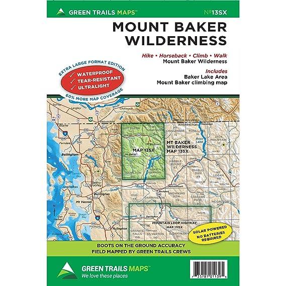 Amazon.com : Green Trails Maps, Mount Baker Wilderness Climbing, 13S ...