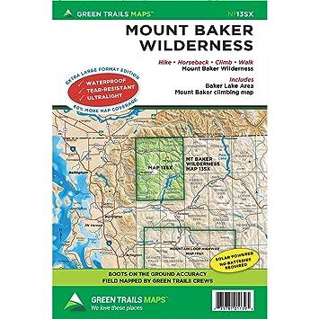 Green Trails Mount Baker Map