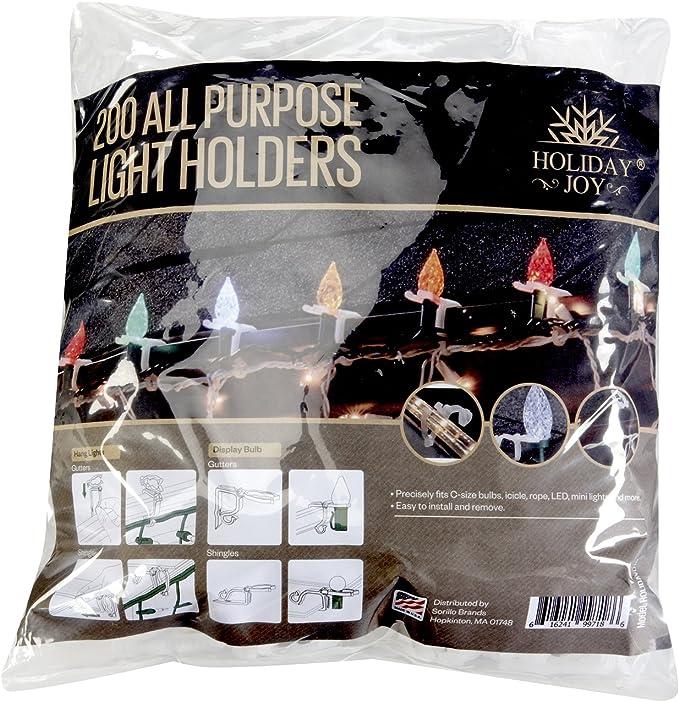 100 Pcs Spring Gutter Hooks Clips for Christmas Fairy Lights xmas Tree Gift