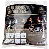 Holiday Joy - 200 All Purpose Light Holders for Outdoor Christmas Lights - Made in USA