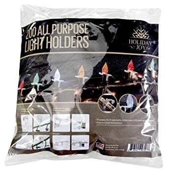 Amazon holiday joy 200 all purpose light holders for outdoor holiday joy 200 all purpose light holders for outdoor christmas lights made in usa aloadofball Choice Image